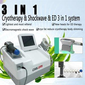 EWT Shock Wave Cryotherapy que adelgaza la máquina de congelación gorda de la talladora del cuerpo / la terapia caliente de la ganancia de la venta para la disfunción ED