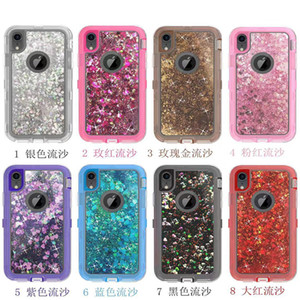 Liquid-filled glitter case capa para iphone x xr xs max 8 7 plus 6 plus luxo designer phone case para samsung s10 plus s9 s8 s7 nota 8 9