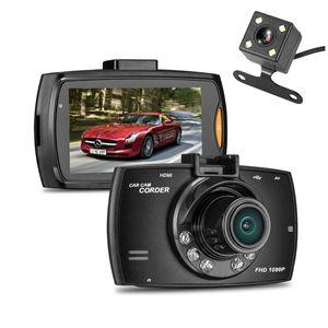 """2CH قيادة السيارة dashcam مسجل رقمي سيارة DVR 2.7 """"FHD 1080P عدسة مزدوجة الجبهة الخلفية 140 درجة 100 درجة عرض رؤية ليلية زاوية G- الاستشعار"""