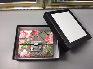 gg gucci GUCCI High quality brand men animal Short Wallet Leather black snake Tiger bee flower Wallets Women Long Style Purse Wallet card Holders with box