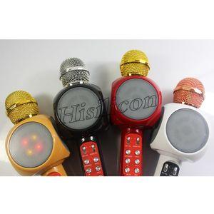 30pcs WS-1816 Haut-parleur sans fil Bluetooth KTV Karaoke Microphone Haut-parleurs avec prise en charge LED TF AUX USB pour les téléphones intelligents
