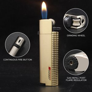 Jobon Butane Lighter Grinding Wheel Continuous Fire Refillable Lighters Gift for Friend