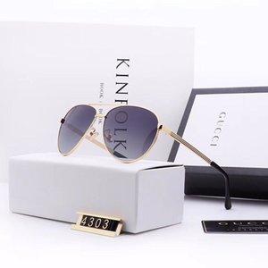 2019 heiße Marke Mode Männer und Frauen Designerretro Brillen 4303 Vollrahmen Top-Qualität UV-Schutz kommen Sonnenbrillen