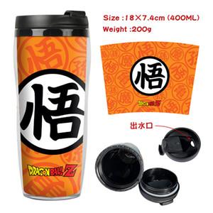 Z Son Goku Tazza Tazza di caffè Tazza di spazio Bottiglia di plastica Bottiglia di acqua Ragazzi Ragazze Materiale scolastico Torna a scuola Regalo 400 ml