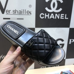 chanel 2020 Top qualité MULE DWAY EN COTTON BRODE SLIDE de luxe de femmes Sandales New Style Top qualité Femmes Mode Slipper