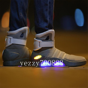 Air Mag Shoes Marty Casual LED Shoes Back To The Future Glow In The Dark Gray Black Mag Marty McFlys Shoes fdzhl