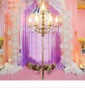 Acrylic Crystal Iron Wedding Road Lead Wedding Decor Centerpiece Event Wedding Decoration for Function Can Be Raised and Lowered 6 Haeds