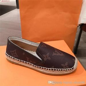 Mulheres outono / inverno lazer sapatos mocassins baixo-parte superior com os pés A letra imprimir sapatos com sola de palha, com o tamanho da caixa de 34-40