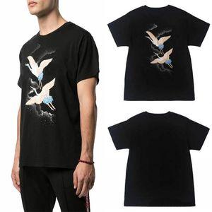 20ss Yaz Tişörtlü Polos Moda Yangın Vinç Erkekler Kadınlar Siyah Pamuk Tee Casual Kısa Kollu Boyut S-XXL