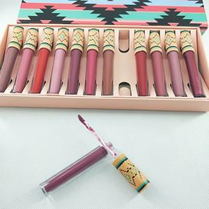 Nouveau maquillage Marque lipgoss Fondu Lip Gloss sexy Make Up Fondu Matte Liquéfié Long-Wear Matte 12 couleurs rouges à lèvres / set