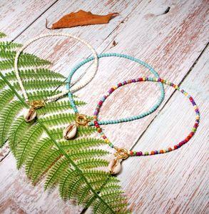 Красочные бусы Choker для женщин Мода Модные богемское лето Chic Bib Collier Femme ожерелье Cowrie Shell й
