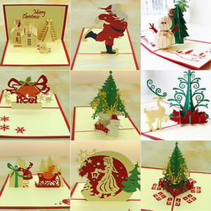 3D Pop Up Greeting Card Handmade Happy Birthday Merry Christmas Card Gift Present