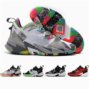 2020 Новый релиз Уэстбрук III Почему не Zero.3 мужские ботинки баскетбола Jumpman ZER0 шума Семья Спорт Кроссовки Размер 7-12