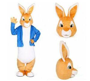 Pascua Peter Rabbit traje traje de la mascota del partido del tamaño Adulto de la historieta del vestido de lujo equipa unisex desfile de Halloween Publicidad