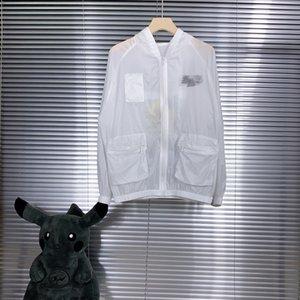 20 new patchwork pocket skin coat back with lettered logo Unisex Yards: mlxlxxl 203