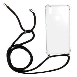 Collier 1,5mm transparent crossbody Longe anti-choc TPU pour Vivo V9 Y85 Y89 Z1 Z1lite Z3X téléphone cellulaire couverture corde 160cm