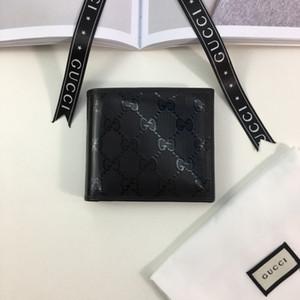 2019 Portefeuille en cuir courtes hommes avec la boîte de sacs à main toile lettre classique boîte originale classique Femme Sac Zip