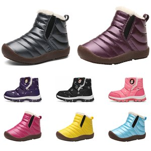 2020 New whole sale drop shipping children baby cotton warm shoes black brown pink blue sports sneakers size 25-34 free shipping