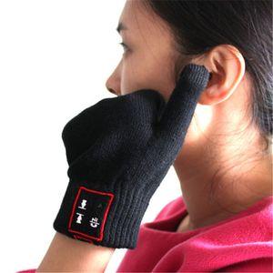 Guantes de la manera Bluetooth-guantes mágicos Hablar Auriculares Bluetooth Speaker táctil completa de guantes para Móviles Moblie