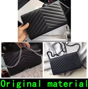kutusu Tasarımcı çanta koyun derisi sığır derisi Havyar deri 2020 marka Tasarımcı lüks çanta cüzdan kadın cüzdan Gerçek Deri Metal