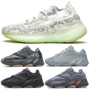 Todos os novos Kanye West 700 Shoes V2 Carbono Azul Hospital Preto Mens Sneaker Vanta Inércia malva V3 Azael corredor da onda Ímã estático Sal