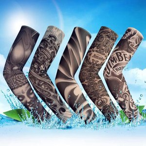 Impreso Armwarmer protección UV brazo Protegerse del Sol librar mangas de ciclo al aire mangas tatuaje 3D MTB de la bicicleta mangas LJJA4091