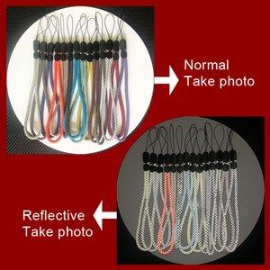Reflective Lanyard Mobile Phone Strap Bluetooth Speaker General Short Wrist Rope Digital Camera MP3 Key Adjustable Reflective Stripes