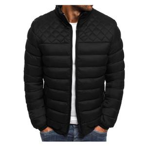 4 Renkler Erkekler Sonbahar Kış Fermuar Sıcak Aşağı Ceket Packable Işık Üst Kalite Coat Pamuk Elbise S-3XL