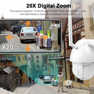 PTZ 무선 IP 카메라 와이파이 야외 1080P 스피드 돔 보안 카메라 CCTV 팬 틸트 4 배 줌 IR 오디오 감시 카메라