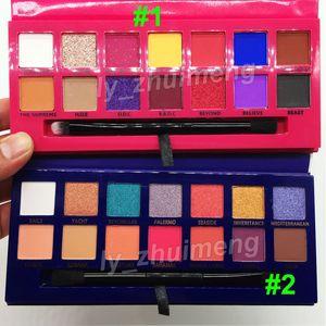 Maquillaje Alyssa Edwards paleta de sombra de ojos sombra de ojos Azul 14 de color con la paleta cepillo de sombra de ojos la belleza brillo mate de envío libre de DHL