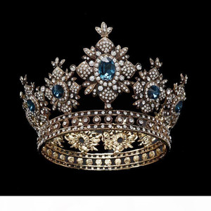 Snuoy Vintage Royal Queen Crown For Women Pageant Hair ornaments Wedding Hair Accessories Bridal Tiara Headpieces coroa de noiva C18112001