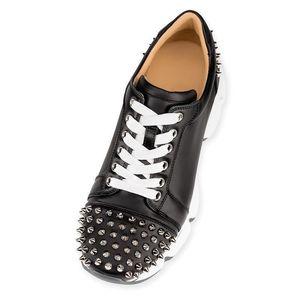 2020 Нового Spike Носок обуви Red Bottoms Runner Донна Flat Резиновая обувь Мужчины Женщина Red Bottom Spike шипованных Шипы Повседневных Квартиры Носок обувь