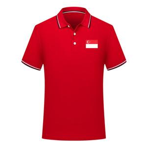 2020 Singapur Nationalmannschaft Polohemden Fußball Jerseys Fußball Polos 2020 Singapur Nationalmannschaft Short Sleeve Polo Fans Tops