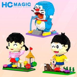 Diamante micro-pequenas partículas blocos de construção tijolos Doraemon série ornamentos Educacionais e brinquedos de descompressão Pai-filho Interativo T