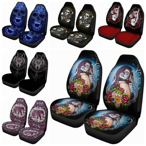 Six Car Seat Covers, Four Seasons, Universal Exquisite Printed Personalized Patterns, Breathable, Dustproof, And Dirt-resistant Interior Acc