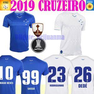 2020 CRUZEIRO 태국 축구 유니폼 19 20 브라질 DE ARRASCAETA FRED ROBINHO THIAGO 축구 셔츠를 착용하지 않음 Cruzeiro home Brasil club Camisas