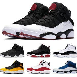 6 Кольца Мужчины Баскетбол обувь Бред Concord Matte Silver такси Белый университет Красный Мужские Кроссовки Athletic Спортивные кроссовки Размер 7-13