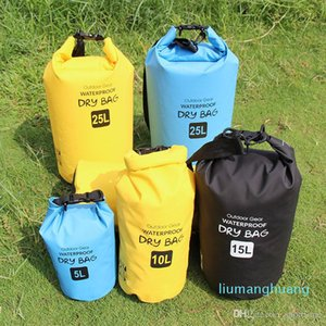 New Durable Outdoor Waterproof Dry Bag Floating Natação Boating Camping Viagem Kit de derivação à prova d'água Folding Bag 5L / 10L / 15L / 20 / jh01 25L