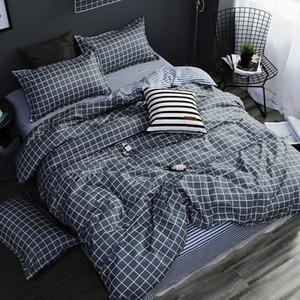 Домашний текстиль AB сторона комплект постельных принадлежностей серый геометрические постельные принадлежности housse de couekid комплект постельного белья синий постельное белье пододеяльник