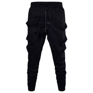 MarKyi harén moda casual hombres pantalones de verano 2017 nuevos pantalones de estilo hip hop sueltos con cremalleras tamaño 3XL
