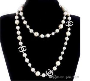 Hot estilo de moda mulheres projeto colar de pérolas camisola subiu dourada jóias colar de pérolas para melhores acessórios do presente das mulheres