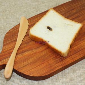 Ücretsiz kargo Orijinal Ahşap Tereyağı Bıçağı Japon Tarzı Meyve Kek Bıçak Diş Şekli Peynir Bıçağı Toptan
