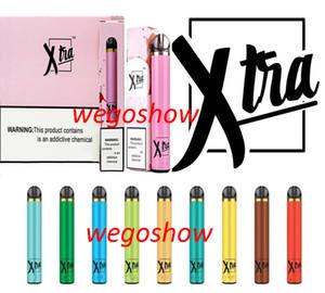 12 Цвет Xtra Pen Xtra Одноразовые устройства Pod Kit 1500 пуфы Предварительно заполненный 5мл картридж мощного аккумулятора Vape Pen Bar Posh Plus