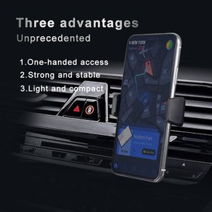 Car Mount Double Clip Phone Holder Car Air vent 360 Degree Rotation Universal Phone Stand For iphone X XR XS 6 7 8