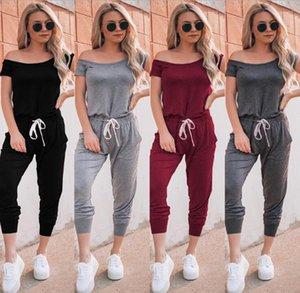 Casual Women Encolure Tenues manches courtes Jumpsuits barboteuses Pantalon vente à chaud confortable de haute qualité