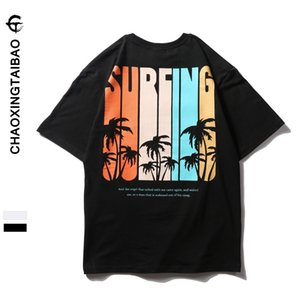 20ss Designer Brand Mens Short-Sleeved T-shirt Coconut Tree Letter round Neck Loose T-shirt Blood Half-Sleeve T-shirt Fashion Clothes Spring