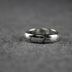 Donne Sterling Vintage Lettera Silver Ring uomini antichi Anelli d'argento dal design di lusso gioielli bohemien Ins Hot