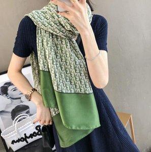 2020 модные и красивые женщины four seasons шелковый шарф письмо цветочный дизайн шарф шаль размер 180*90см шарф