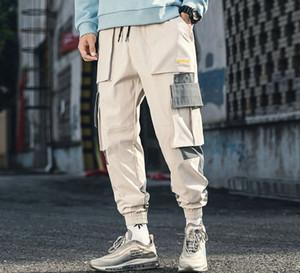 MarchWind Marke Designer Cotton Street Hip Hop Cargo Pants Herbst Mens Baggy Taschen Jogger Hosen Herren japanische Art-Schwarz-Harem-Hosen