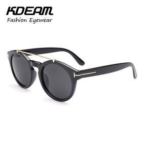 2018 óculos de sol NEW Moda TOM quente para homens e mulheres Óculos grande tamanho óculos redondos com acessórios Kdeam
